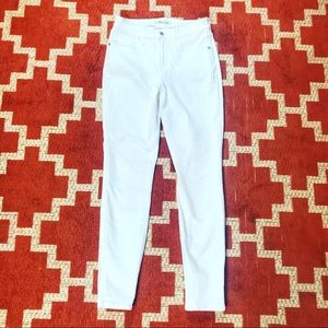 Madewell 26 9' high rise skinny white jeans